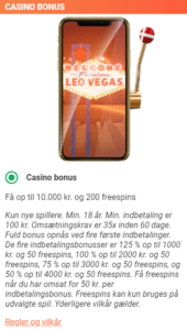 LeoVegas Casino bonus - Mange free spins