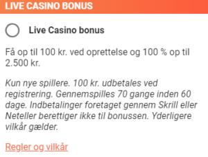 Få en stor bonus ved oprettelse af nu bruger hos LeoVegas live casino
