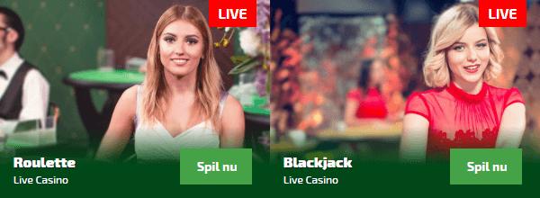 Spil live casino hos Spilnu.dk i dag!