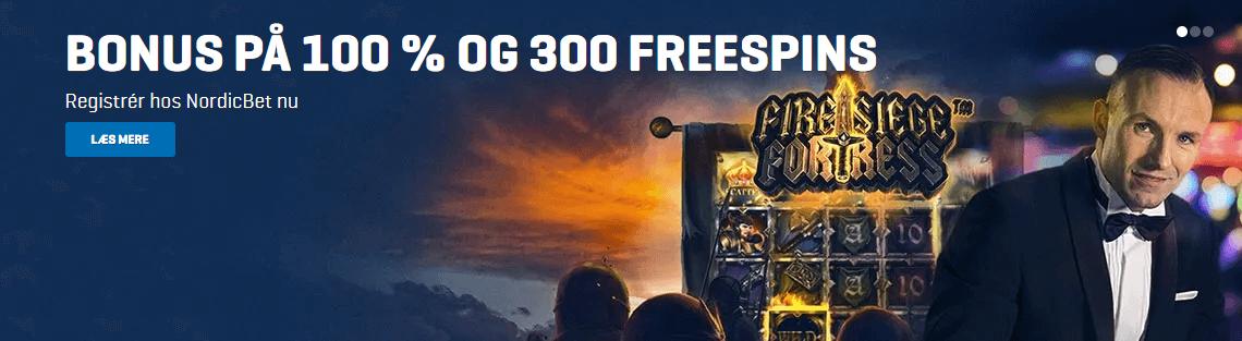 Opret dig hos Nordicbet og få 300 free spins i dag
